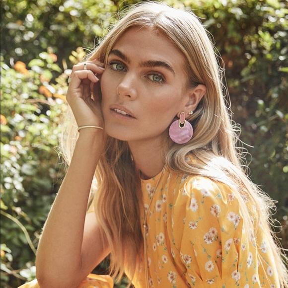 Kendra Scott Layne Statement Earrings In Rose Gold Retail $140